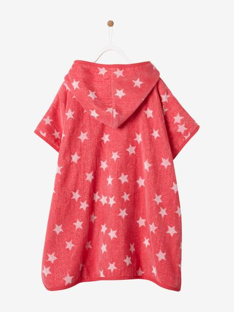 Hooded Bath Poncho with Star Print for Children BLUE DARK ALL OVER PRINTED+BLUE LIGHT ALL OVER PRINTED+PINK BRIGHT ALL OVER PRINTED+WHITE LIGHT ALL OVER PRINTED - vertbaudet enfant