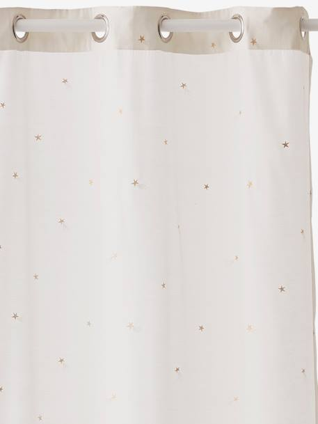 Curtain, Shooting Stars Theme WHITE LIGHT ALL OVER PRINTED - vertbaudet enfant