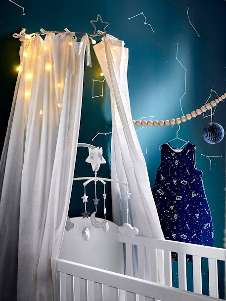 Mobile musical nuages et lune Constellation GRIS / BLANC - vertbaudet enfant