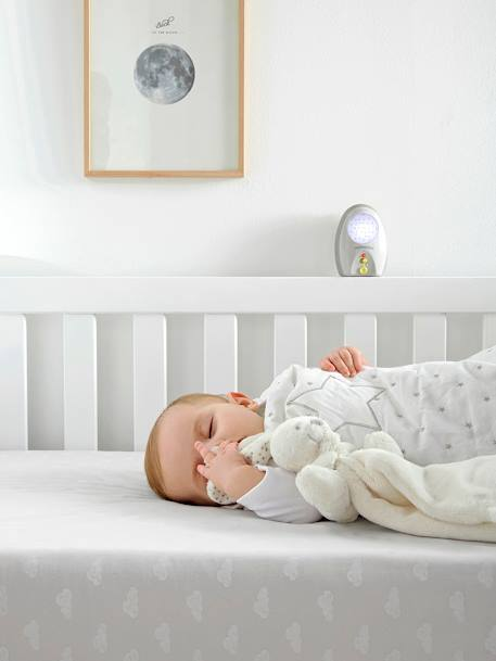 Sleeveless Sleep Bag, Star Shower Theme WHITE LIGHT SOLID WITH DESIGN - vertbaudet enfant