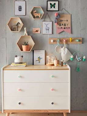 Bedding & Decor-Pack of 3 Hexagonal Shelves
