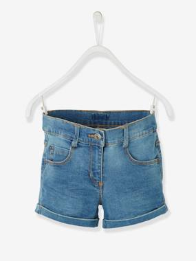 Collection Vertbaudet-Short en jean fille