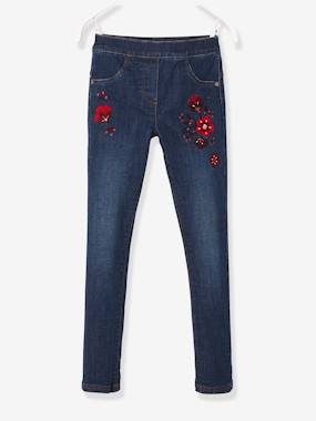 Girls-Jeans-Embroidered Tregging-Style Jeans for Girls