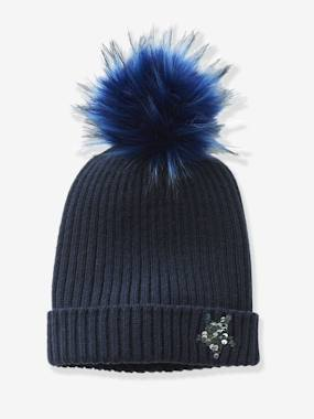 Girls-Accessories-Beanie with a Reversible Sequinned Star
