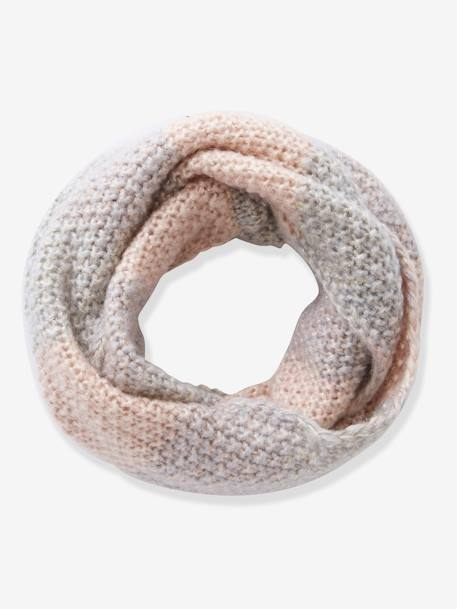 Snood double tour fille GRIS ROSE - vertbaudet enfant