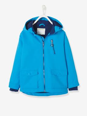 dinosaur-Boys' Parka with Fleece Lining