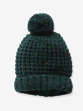 Vertbaudet Sale-Boys-Accessories-Thick-Knit Beanie for Boys