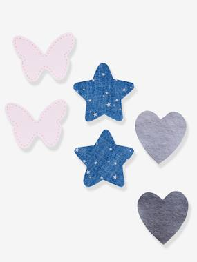 Girls-Accessories-Pack of 6 Iron-on Patches for Girls