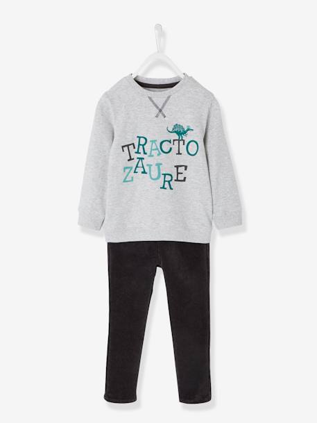 Ensemble garçon T-shirt + pantalon slim ANTHRACITE - vertbaudet enfant
