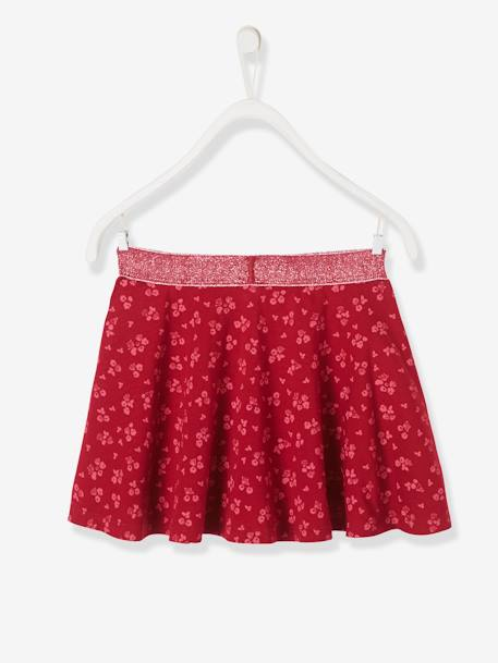 Girls' Skater Skirt BLUE DARK SOLID+RED DARK ALL OVER PRINTED - vertbaudet enfant