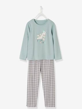 Girls-Nightwear-Dual Fabric Pyjamas for Girls