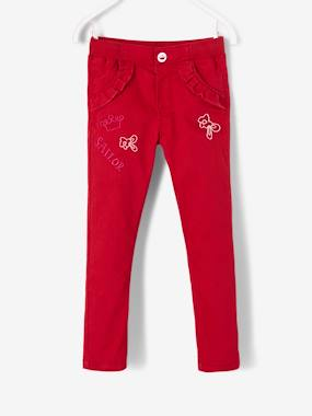 Vertbaudet Sale-Girls-Trousers with Fancy Details for Girls