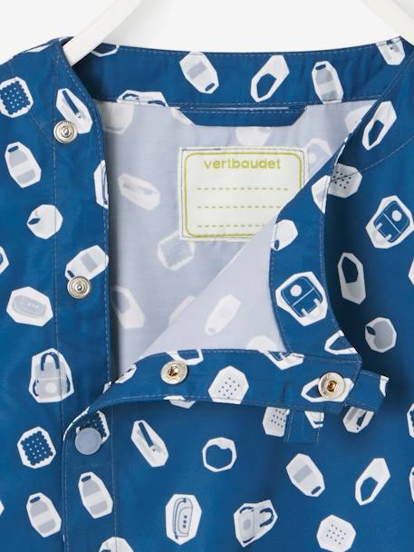 Printed Smock for Boys BLUE DARK ALL OVER PRINTED - vertbaudet enfant