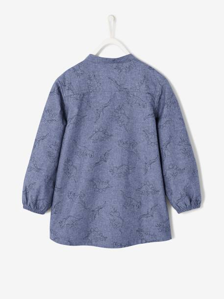 Smock with Dinosaur Print for Boys BLUE MEDIUM MIXED COLOR - vertbaudet enfant