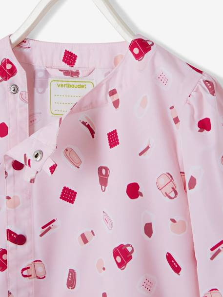 Printed Smock for Girls PINK LIGHT ALL OVER PRINTED - vertbaudet enfant