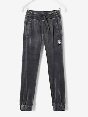 Girls-Sportswear-Velour Joggers for Girls