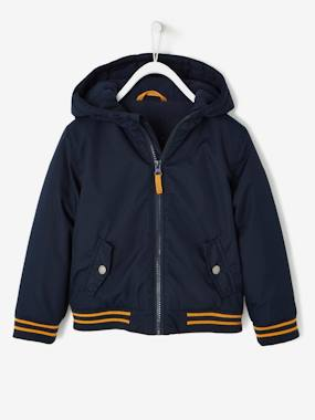 Boys-Coats & Jackets-Fabric Jacket with Fleece Lining for Boys