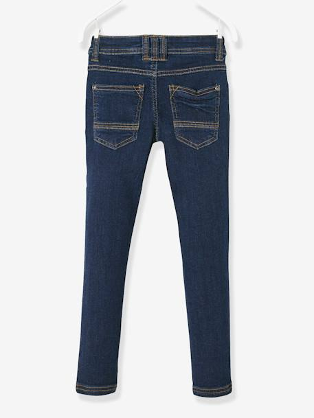 WIDE Fit- Boys' Slim Cut Jeans BLUE DARK SOLID+BLUE DARK WASCHED+GREY MEDIUM WASCHED - vertbaudet enfant