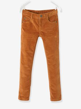 Vertbaudet Sale-Boys-Trousers-Corduroy Slim Leg Trousers for Boys, MEDIUM Hip
