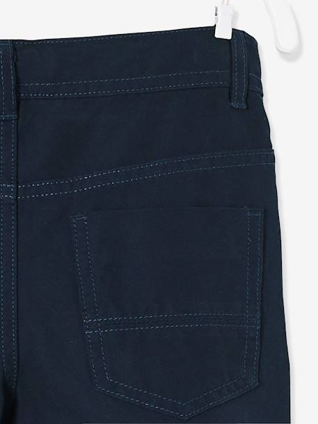 Boys' Indestructible Straight Cut Trousers BLUE DARK SOLID+BROWN MEDIUM SOLID+GREEN LIGHT SOLID+RED DARK SOLID - vertbaudet enfant