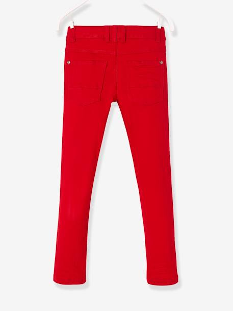 WIDE Fit - Boys' Slim Cut Trousers BLUE MEDIUM SOLID+GREEN DARK SOLID+PINK DARK SOLID+RED DARK SOLID - vertbaudet enfant