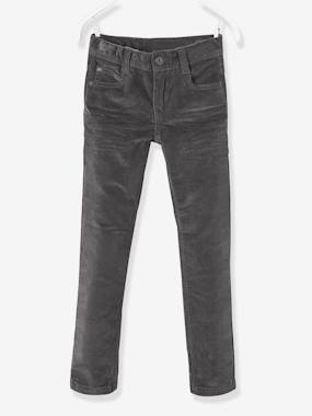 Vertbaudet Sale-Boys-Trousers-Corduroy Slim Leg Trousers for Boys, NARROW Hip
