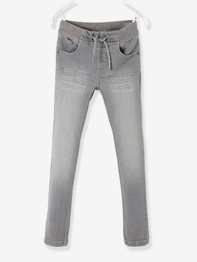 Vertbaudet Sale-Boys-Trousers-Slim Jeans in Breathable Denim for Boys
