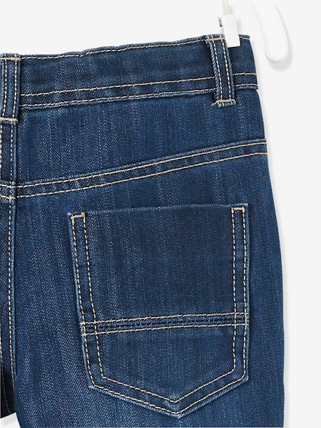 Boys' Indestructible Straight Cut Jeans BLUE DARK SOLID+BLUE DARK WASCHED - vertbaudet enfant