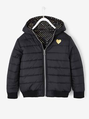 Vertbaudet Collection-Reversible Padded Jacket for Girls