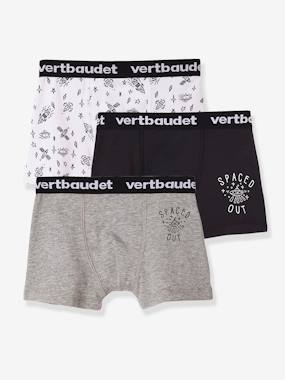 Basics and Multipacks-Pack of 3 Stretch Boxer Shorts for Boys