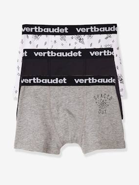 Vertbaudet Collection-Boys-Pack of 3 Stretch Boxer Shorts for Boys