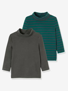 Vertbaudet Sale-Baby-T-shirts & Roll Neck T-Shirts-Pack of 2 Baby's Undersweaters