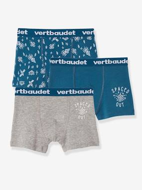 Boys-Underwear-Underpants & Boxers-Pack of 3 Stretch Boxer Shorts for Boys