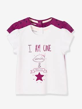Mid season sale-Baby-T-shirts & Roll Neck T-Shirts-Pack of 2 T-Shirts with a Charming Motif, for Baby Girls