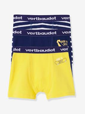 Boys-Underwear-Pack of 3 Stretch Boxer Shorts for Boys