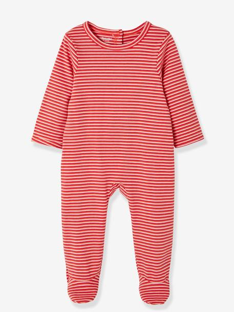 Pack of 2 Cotton Pyjamas, Press Studs on the Back RED MEDIUM 2 COLOR/MULTICOL - vertbaudet enfant