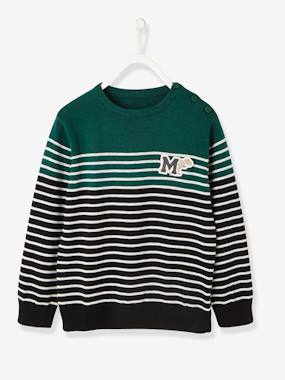 Vertbaudet Sale-Boys-Navy-Style Jumper, for Boys