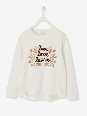 Girls-Long-Sleeved, Printed Top for Girls