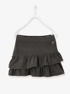 Vertbaudet Sale-Girls-Skirts-Asymmetrical Flounced Skirt for Girls