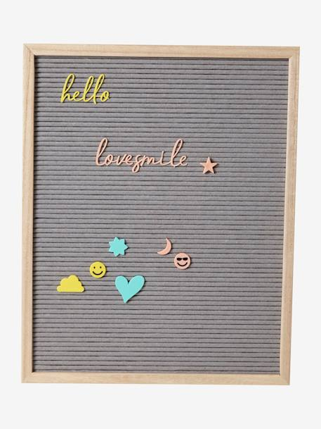 Letter Board GREY LIGHT SOLID WITH DESIGN - vertbaudet enfant