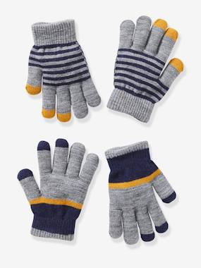 Boys-Accessories-Winter Hats, Scarves & Gloves-Pack of 2 Pairs of Gloves for Boys
