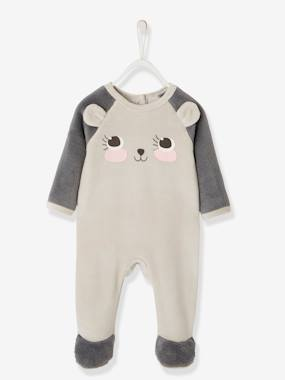 Baby-Pyjamas-Velour Pyjamas for Babies, with Press-Studs on the Back