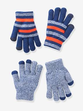 Boys-Accessories-Pack of 2 Pairs of Gloves for Boys, One Size Fits All