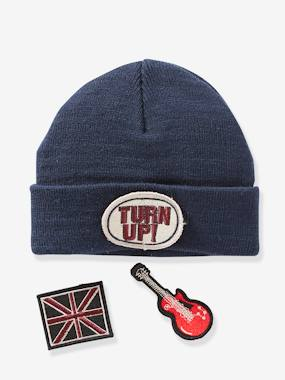 Boys-Accessories-Beanie with Detachable Patches for Boys