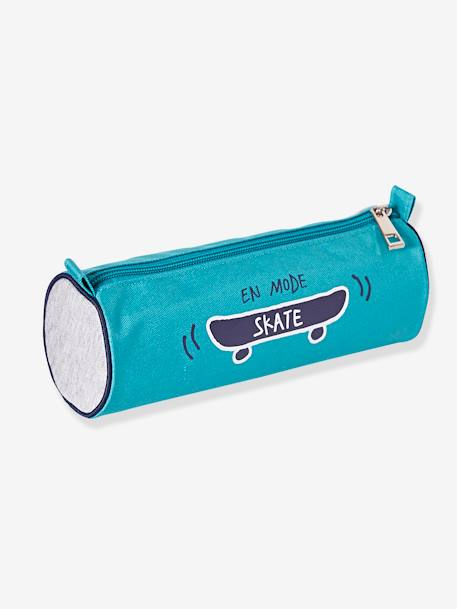 Three-Tone Pencil-case with Skateboard Print for Boys GREEN MEDIUM SOLID WITH DESIG - vertbaudet enfant