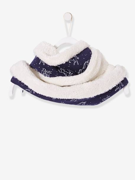 Snood double tour mixte MARINE GRISE IMPRIME - vertbaudet enfant
