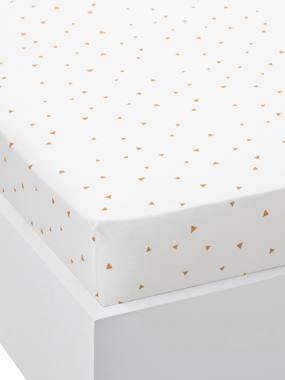 Vertbaudet Collection-Bedding-Children's Fitted Sheet, Triangles All-Over Print