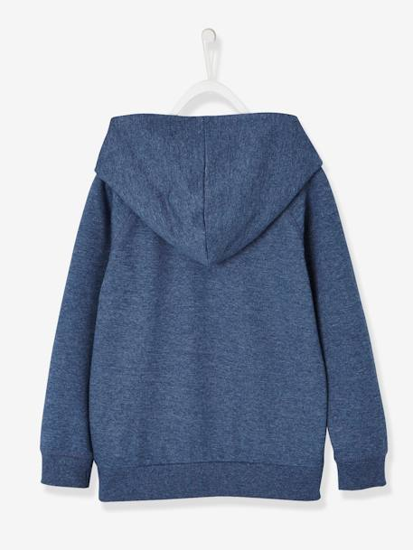 Mickey® Hooded Sweatshirt BLUE DARK SOLID WITH DESIGN - vertbaudet enfant