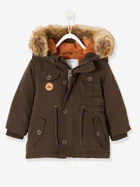 Bonnes affaires-Baby-Parka with Hood & Plush Knit Lining, for Baby Boys