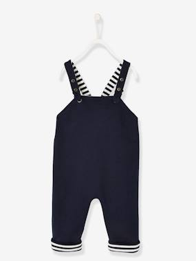Baby-Dungarees & All-in-ones-Reversible Fleece Dungarees for Baby Boys